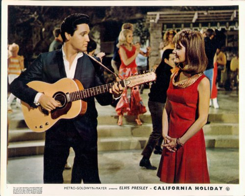 CALIFORNIA HOLIDAY SPINOUT ELVIS PRESLEY GUITAR SHELLEY FABARES LOBBY CARD RARE from Silverscreen