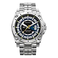 Bulova Men's 96B131 Precisionist Black Dial Steel Bracelet Watch