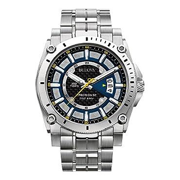 Bulova 96B131 Precisionist Black Dial Steel Bracelet Men's Watch