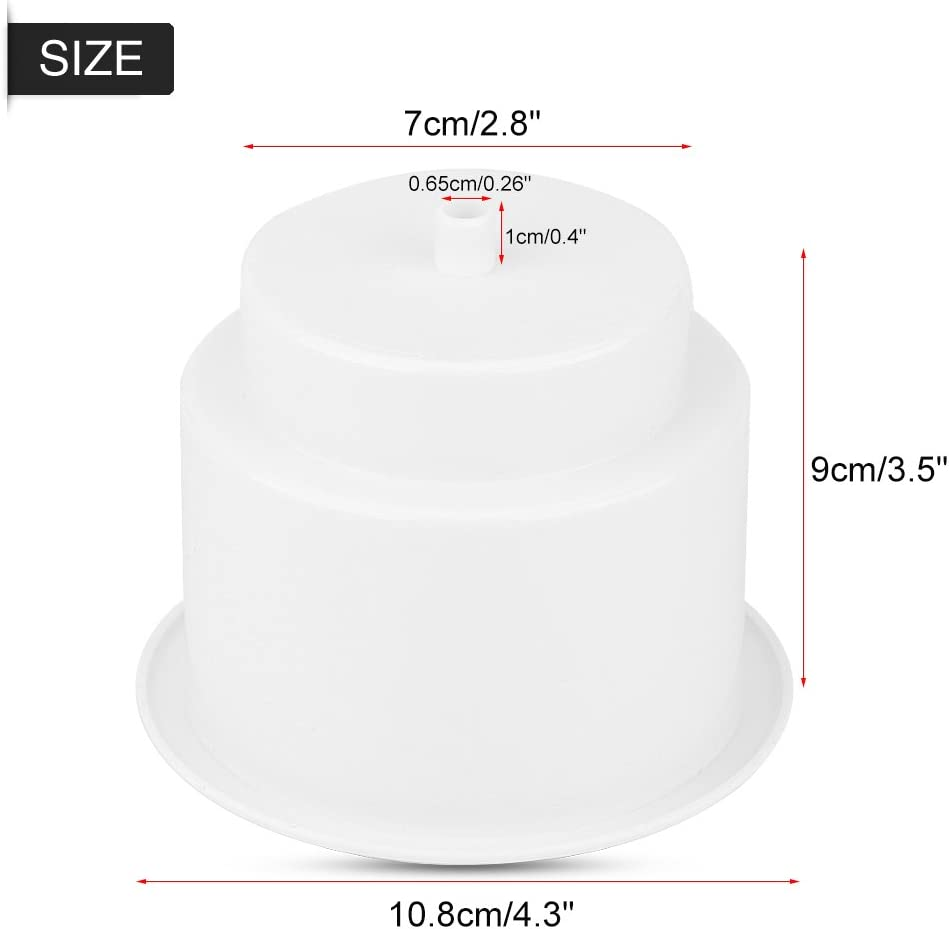 Plastic Cup Drink Holder for Boat White Universal Drink Bottle Can Cup Holder Insert Marine with Insert Drain Hole for Marine Rv Boat Yacht Car