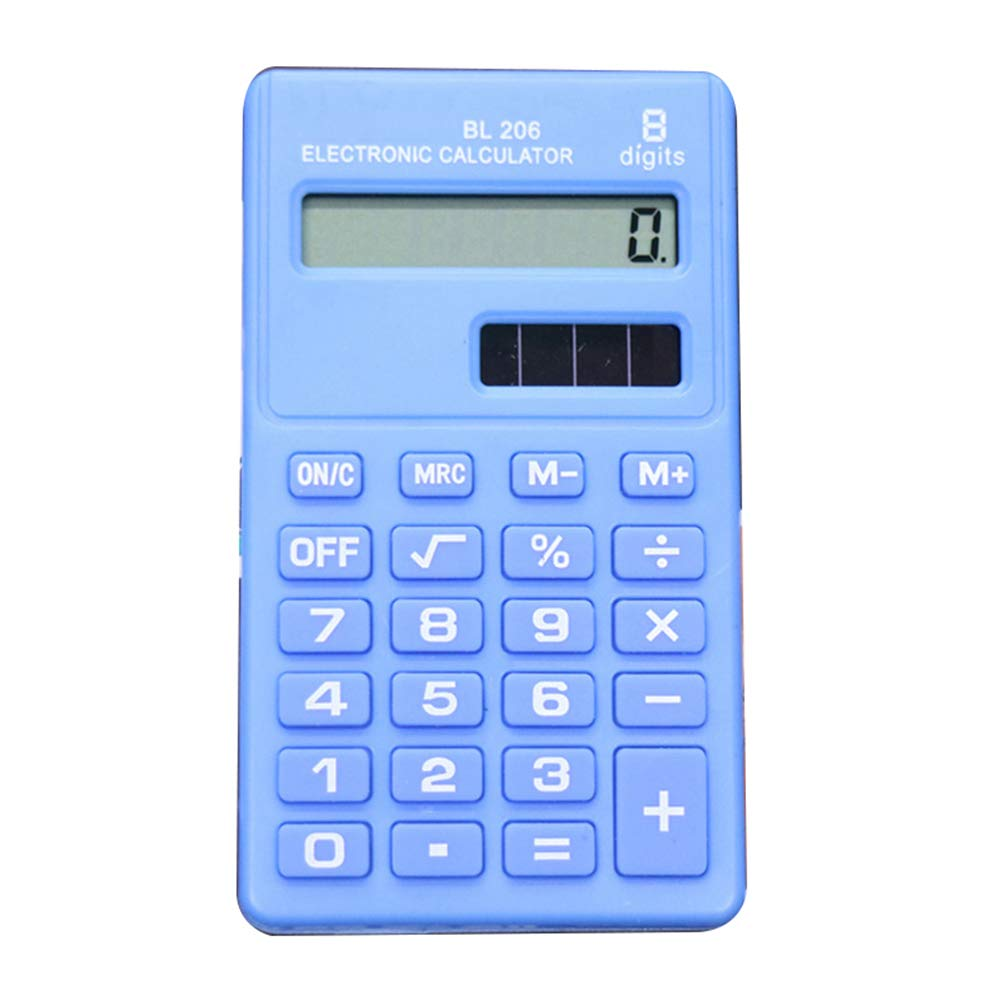 Queta 8-digit Pocket mini calcolatrice elettronica cute calcolatrice studenti per ufficio 9.5 * 5.5cm Light blue