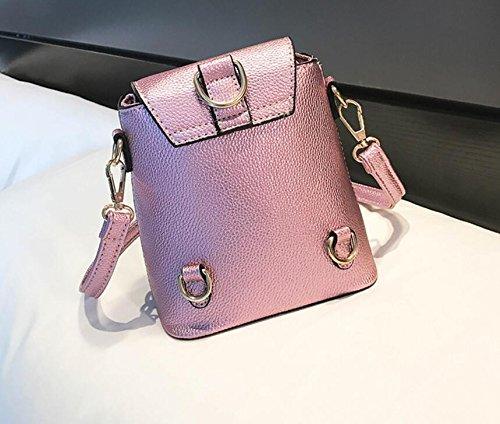 Doré À Sauvage nbsp; Seau Bag nbsp; nbsp;Nouveau Pink Meaeo Sac Bandoulière Messenger Sac gqa5POw