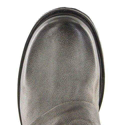 Fb Fashion Boots As98 259214 Nero Nebbia / Stivaletti Da Donna Neri / Scarpe Da Donna / Stivali Neri Da Donna