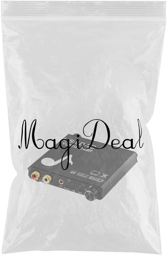 Bonne Compatibilit/é MagiDeal 192KHz USB DAC en Alliage Daluminium Num/érique SPDIF Coaxial /à Analogique Convertisseur