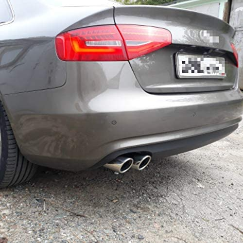 KWWBLX Auto Car Exhaust Muffler Tip Pipes Covers,for VW Tiguan Passat B7 CC,for Audi A3 8P A4 B8 Q5 A1 Car Accessories
