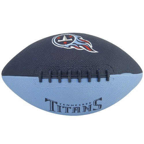Rawlings NFL Tennessee Titans Youth Navy Blue-Light Blue Hail Mary Rubber Football (Tennessee Titans Rubber)