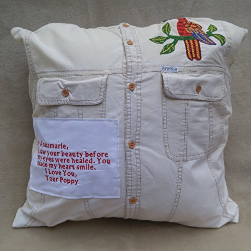 Memory pillow made from shirts, This is a shirt I used to wear