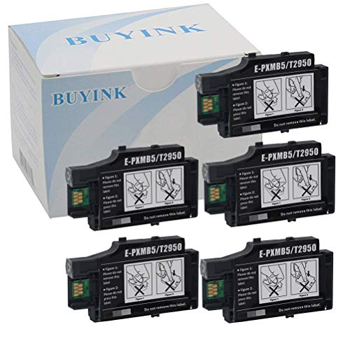 - 5 Pack Remanufactured T2950 Ink Tank Maintenance Box Compatible for Workforce WF-100 WF-100W Inkjet Printer