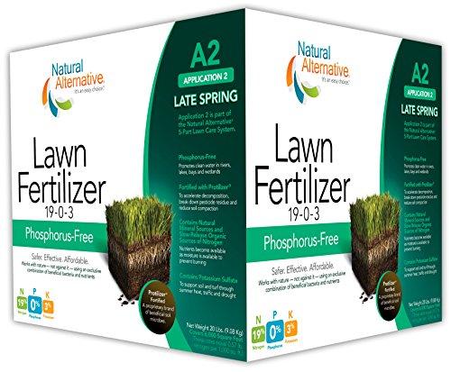 Natural Alternative Late Spring Lawn Fertilizer 19-0-3 wi...