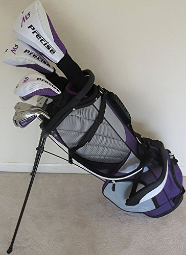 Petite Womens Complete Golf Clubs Set for Ladies 5ft to 5ft 6in Tall Driver, Wood, Hybrid, Irons, Putter, Stand Bag