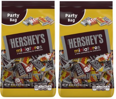 HERSHEY'S Chocolate Candy Bar Miniatures Assortment (40 Ounce ( Pack of 2) ()