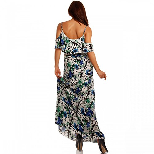Young-Fashion - Vestido - Con cortes - Floral - Sin mangas - para mujer Mehrfarbig/Model14