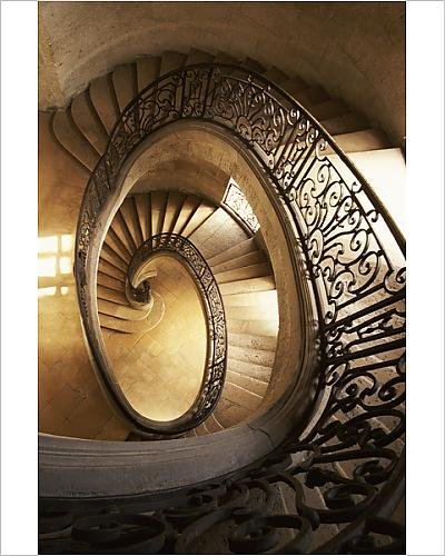 10x8 Print Of Ornate Spiral Staircase (14442295)