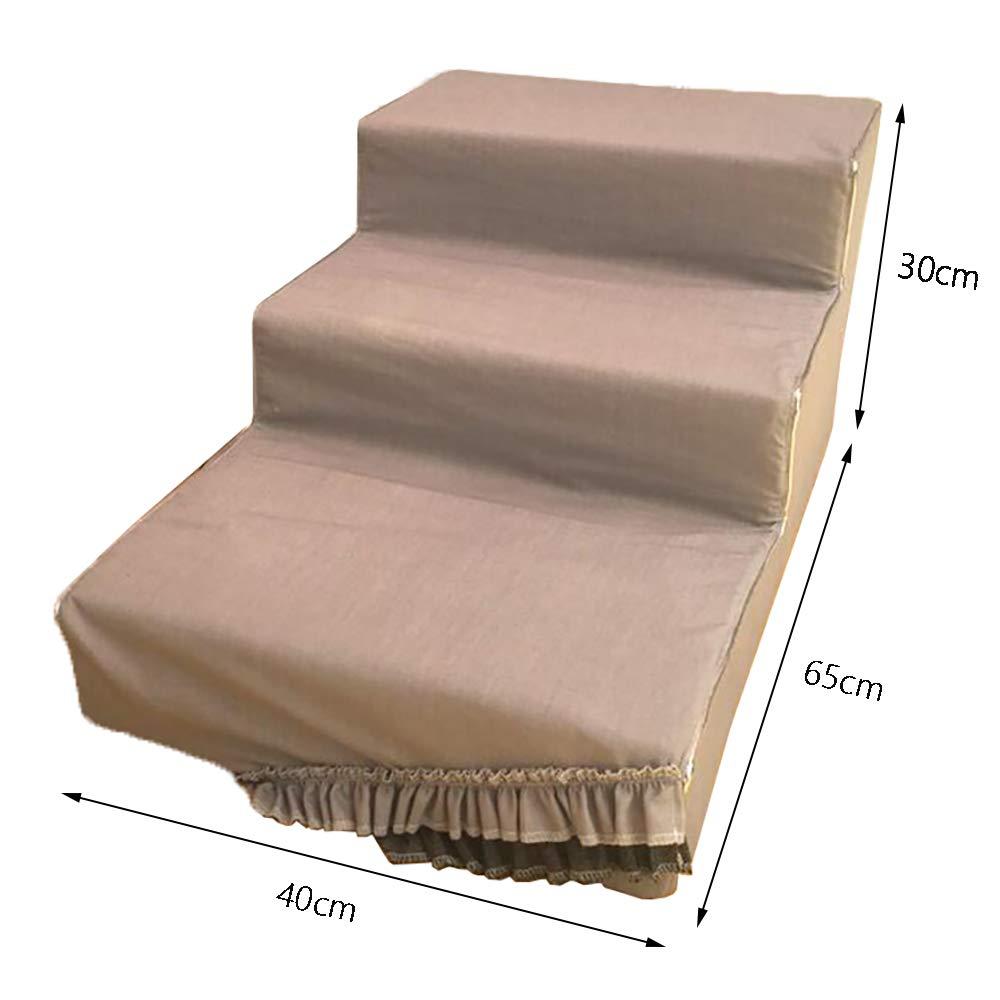 Scale Scale Scale Portatili con Scala Leggera per Cani E Gatti da Utilizzare all'Interno E all'Esterno - 65 × 40 × 30 Cm 18f482