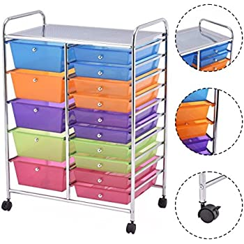 Amazon Com Multi Purposed Rolling Storage Cart Organizer