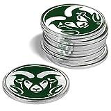 LinksWalker NCAA Colorado State Rams - 12 Pack Ball Markers