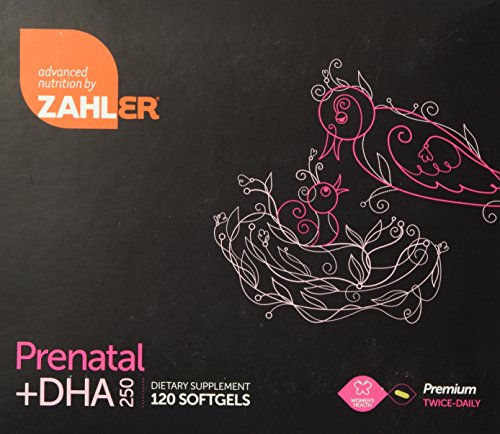 250 Mg Dha - Prenatal Vitamin + DHA 250mg - Premium Twice Daily Softgels - ZAHLER (2 Months Supply)
