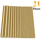 Sutemribor Brass Round Rods Bar Assorted Diameter 2-8mm for DIY Craft (21 PCS): more info