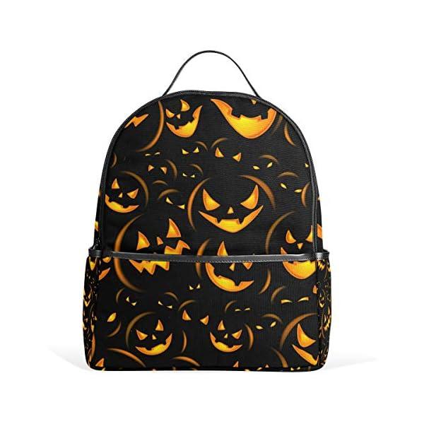 Halloween zucca nero zaino spaventoso per donne adolescenti ragazze borsa alla moda borsa libreria bambini viaggio… 2 spesavip