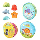 M AOMEIQI Baby Bath Toys 3 Pack Nontoxic Soft Floating Sound Books Kids
