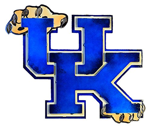 Gear New University of Kentucky 3D Vintage Metal College Man Cave Art, Large, Blue/White/Brown by Gear New (Image #1)