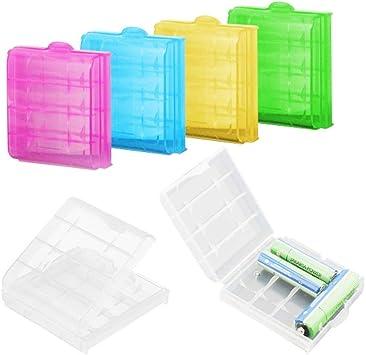 SUNFUA 6 Piezas Caja de Almacenamiento de la Batería Batería Caja para AA/AAA Baterías Almacenamiento: Amazon.es: Electrónica