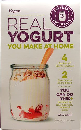 Cultures For Health Real Yogurt Starter Culture Vegan -- 4 Packets