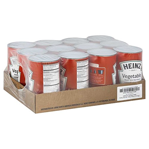 - Heinz Condensed Vegetable Soup with Beef Stock - 51.5 oz. can, 12 per case