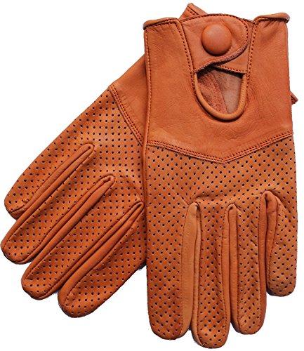 Riparo Motorsports Men's Leather Driving Gloves Medium Cognac