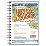 "Strathmore 400 Series Visual Watercolor Journal, 140 LB 5.5""x8"" Cold Press, Wire Bound, 22 Sheets"
