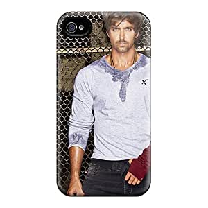 Tpu Case Cover For Iphone 4/4s Strong Protect Case - Hrithik Roshan Design