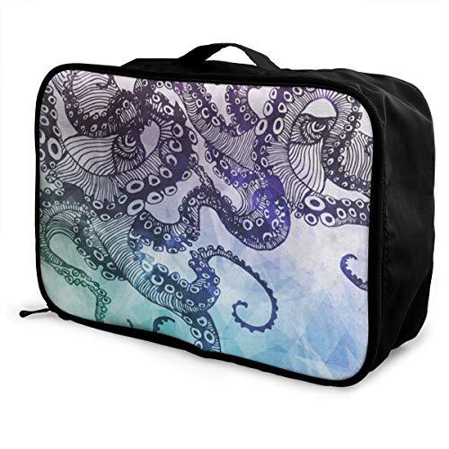 Travel Bags Bstract Octopus Kraken Portable Storage Great Trolley Handle Luggage Bag