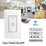 JIAN YA NA Smart WIFI Light Switch Remote Alexa Google Home Voice Control Tuya/Smart Life