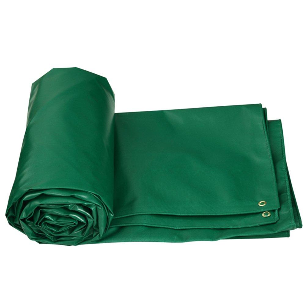 CHAOXIANG オーニング 厚い 防水 アンチサン 耐寒性 腐食保護 老化防止、 防塵の PVC、 520g/M 2、 厚さ 0.5mm、 5色、 7サイズ 利用可能 (色 : 緑, サイズ さいず : 6x5m) 6x5m 緑 B07D34SL88