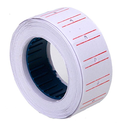 SJPACK 10 Rolls 6000 Price Gun Labels for Mx 5500 Labeller White Pricemarker Stickers 6000 Labels