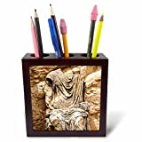 3dRose Danita Delimont - Statues - Statue of Marcus Aurelius, Dougga Archaeological Site, Tunisia, Africa - 5 inch tile pen holder (ph_276622_1)