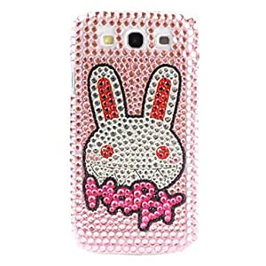 Bkjhkjy Shining Rhinestone Rabbit Pattern Hard Case for Samsung Galaxy S3 I9300