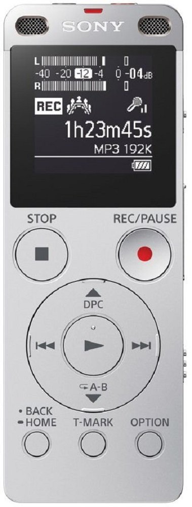 Sony ICD UX560F Digital Voice Recorder with Built in USB  Silver  Digital Voice Recorders