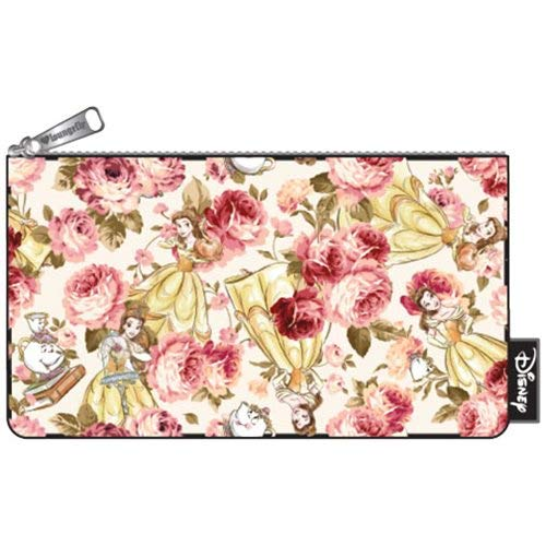 3aaebbbe0ff6 Loungefly Disney Belle Beauty   the Beast Nylon Floral Cosmetic Pencil Bag  Pouch  Amazon.ca  Clothing   Accessories