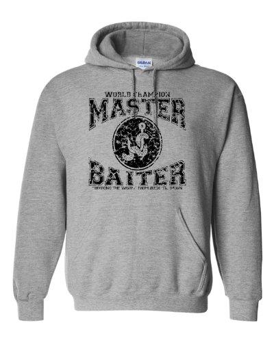 (Large Oxford Adult World Champion Master Baiter Fishing Sweatshirt Hoodie)