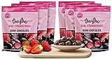 Tru Fru Dark Chocolate Dipped Freeze-Dried Real Strawberries (4.2 oz), 6-Pack Case