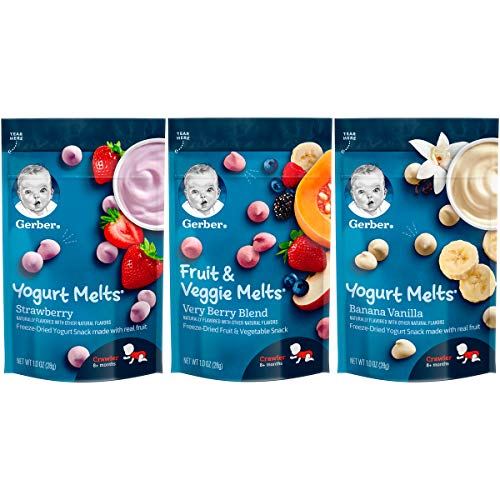 Gerber Up Age Yogurt Melts & Fruit & Veggie Melts Assorted Variety Pack, 8Count