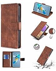 ESONG Xiaomi Poco F3 GT Case,Premium PU Lederen Flip Wallet Telefoon Case [Volledige Bescherming] [Kickstand] [Card Slots] [Magnetische Sluiting] voor Xiaomi Poco F3 GT-bruin