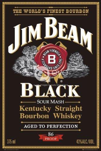 Jim Beam Black Label (Jim Beam Bourbon Whiskey Black Label Large Advert Art Poster 61 by 91.5cm by ElitePosters)