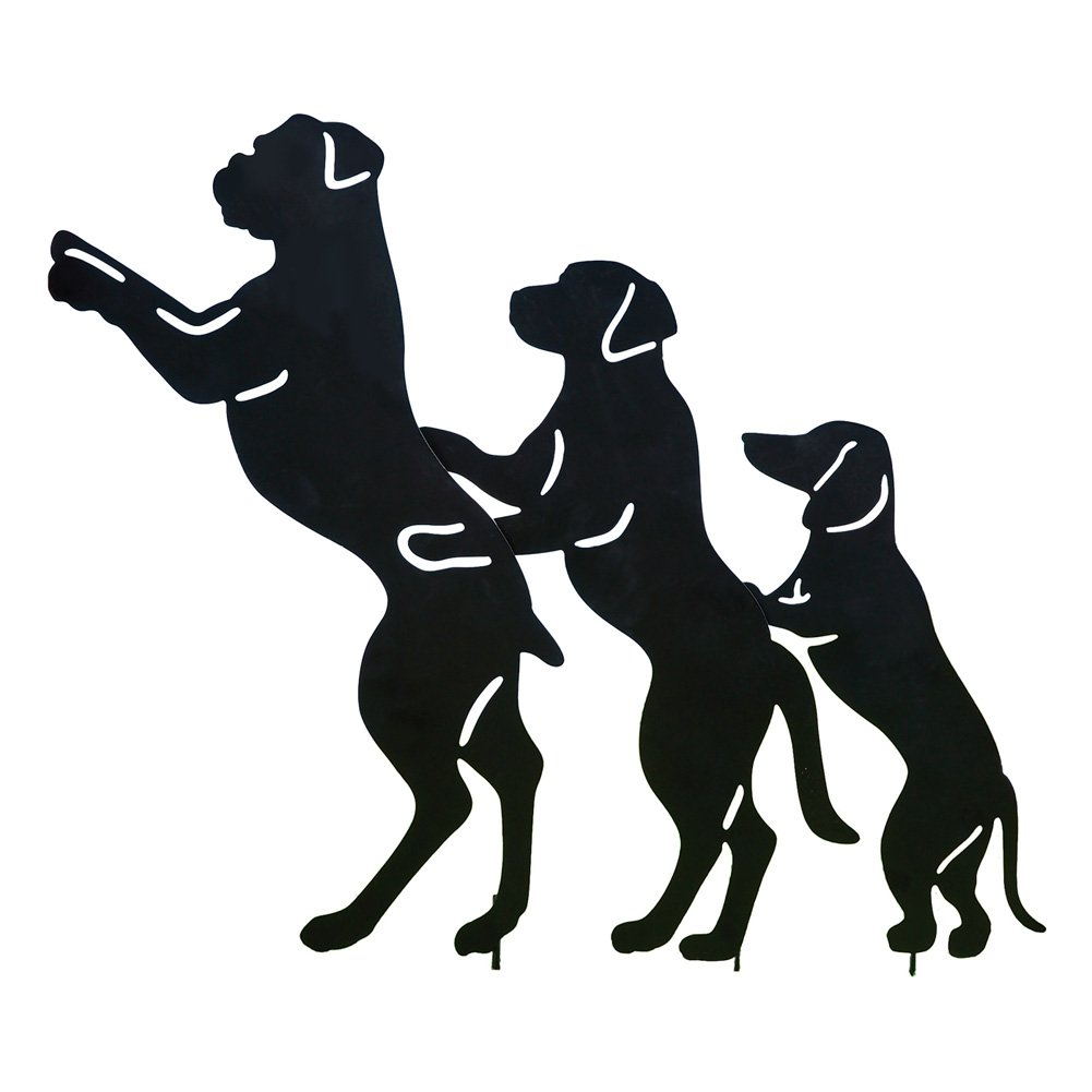 Collections Etc Conga Line Dog Shadow Silhouettes Funny Novelty Metal Yard Decoration