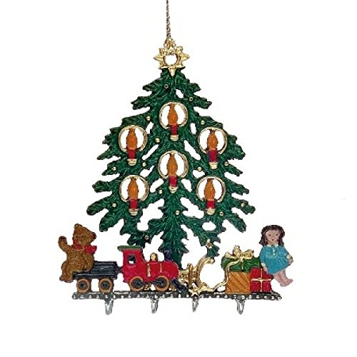 Christmas Tree With Toys - German Pewter Christmas Ornament