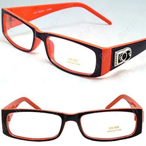 Mens Womens DG Clear Lens Rectangular Frame Fashion Eye Glasses Hipster Designer