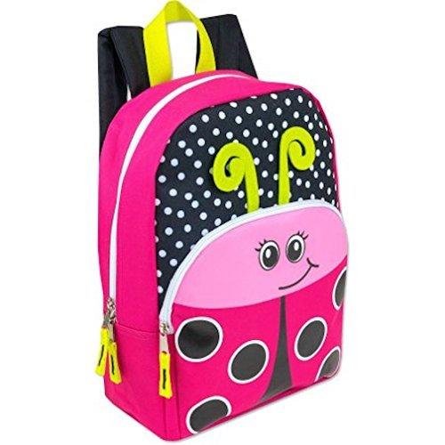 15 Inch Ladybug Critter Kids Backpack