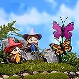 MagiDeal Miniature Fairy Garden Micro Landscape Dollhouse Bonsai Craft Decor Witch