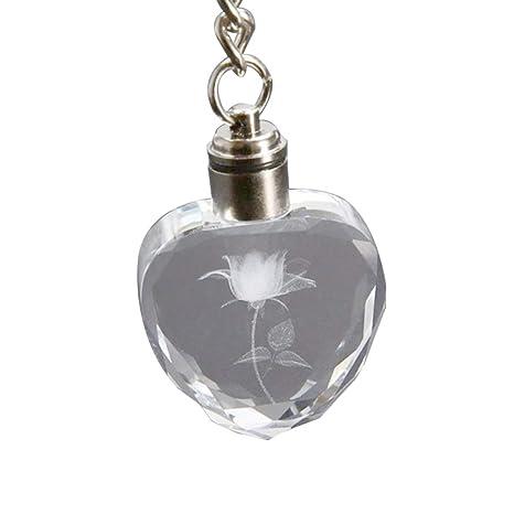 AchidistviQ - Llavero con diseño de corazón con Flores de ...